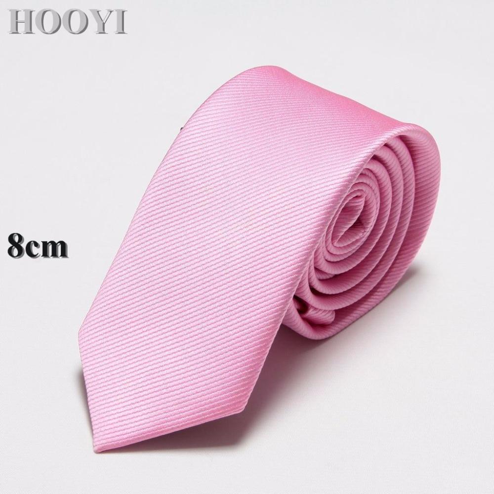 HOOYI Solid Men Ties Business Tie Mariage Necktie Polyester Gift 19 colours Wedding Gravata