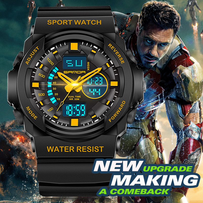 SANDA Fashion Watch Men G Style Waterproof Led Digital Sports Military Shock Men's Analog Quartz Wristwatch Relojes Hombre sanda fashion watch men g style waterproof led digital sports military shock men s analog quartz wristwatch relojes hombre