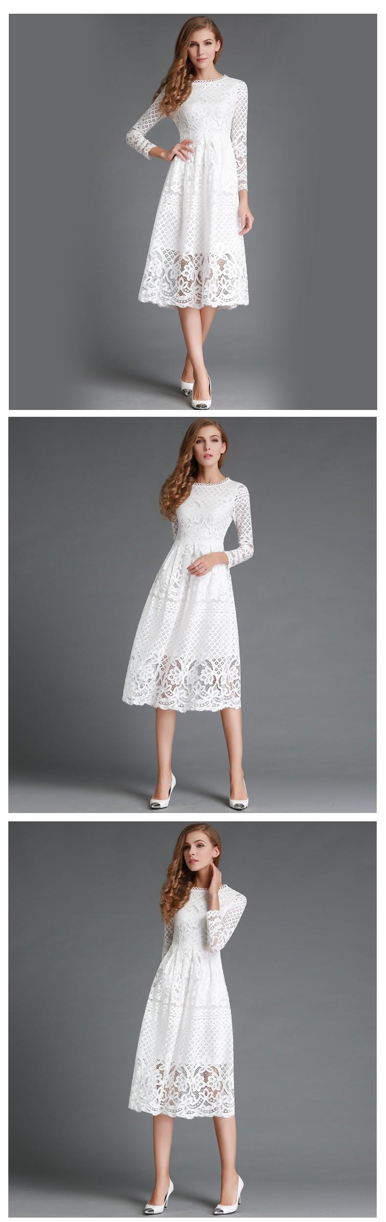 Beauty Long Sleeved Lace Dress 3