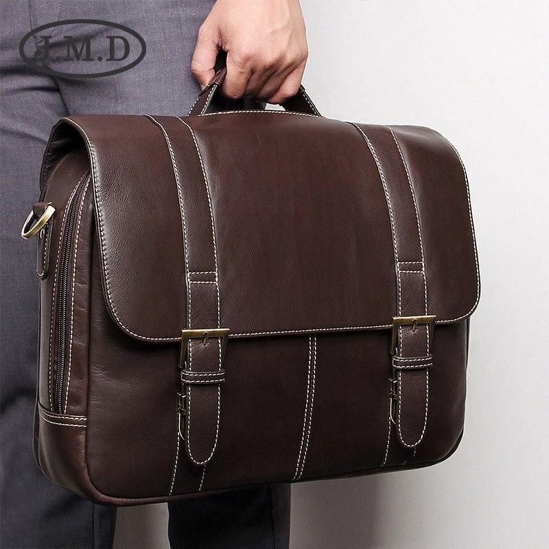 100% Wahr Jmd Neue Mode Hochwertigem Echtem Leder Aktentasche Multi Funktion Computer Handtasche 7396 Mit Einem LangjäHrigen Ruf