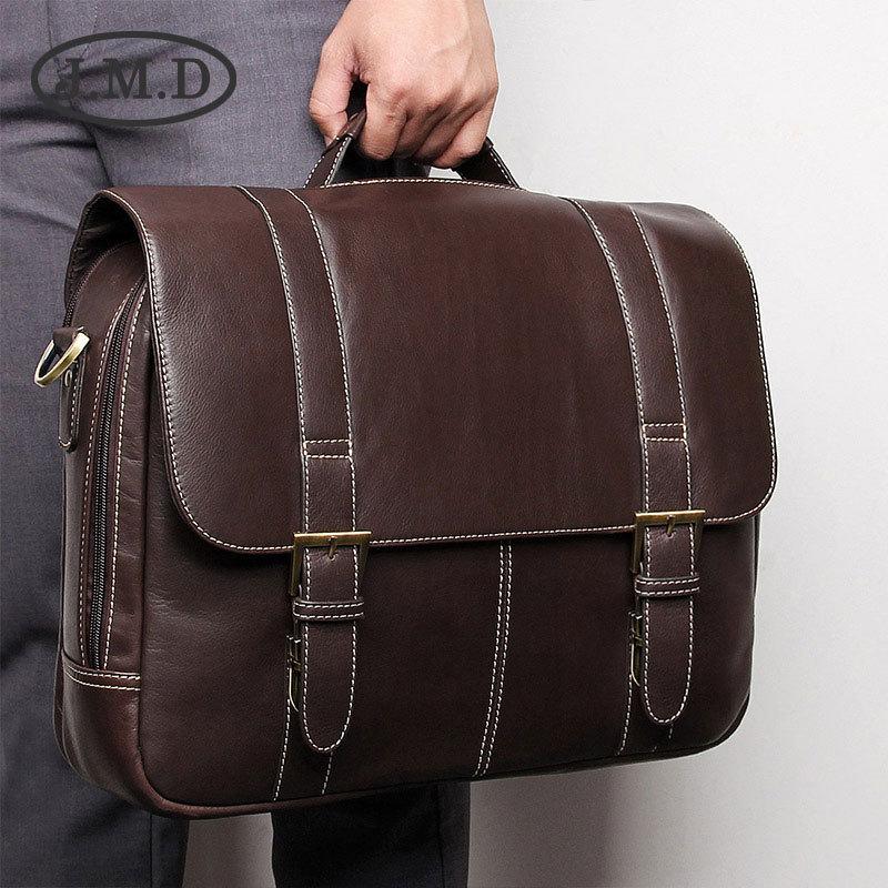 Computer Hochwertigem Neue Jmd Chocolate Multi Echtem 7396 Mode Handtasche Aktentasche Leder Funktion g8qOwExqR
