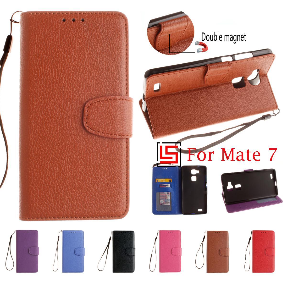 Haute Qualité Meilleur De la Mode En Cuir PU Leathe Flip Book Portefeuille  Stand Couverture de Cas de téléphone Cove Pour Huawei Huawey Ascend  Compagnon 7 ... cf31a765775
