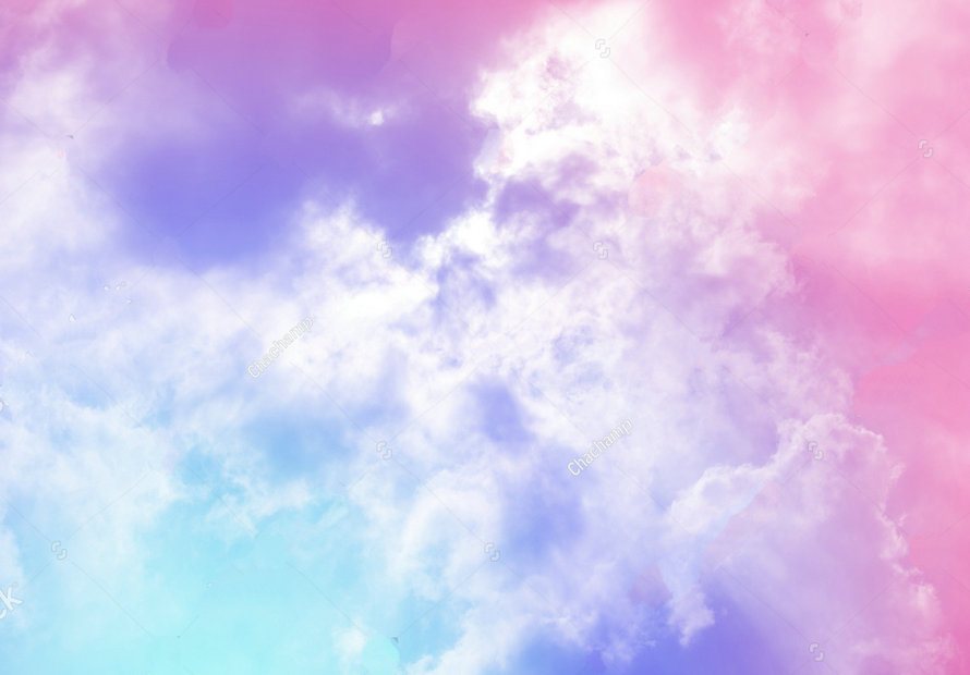 rainbow cloud sun pastel colored Background polyester or Vinyl cloth High quality Computer print wall photo backdrop