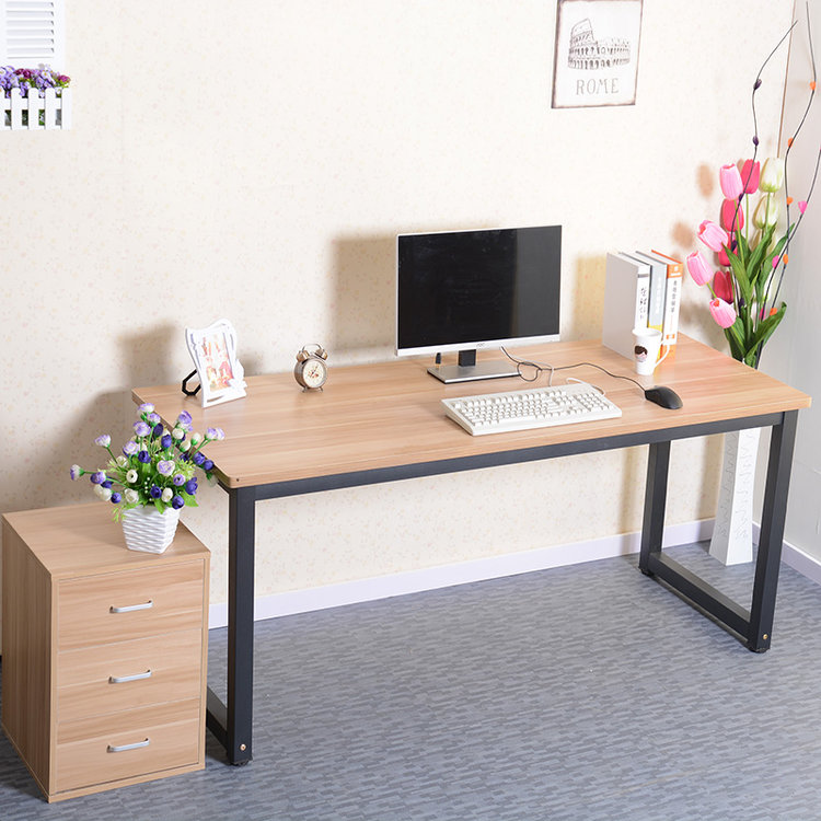 Simple rounded computer desk long table conference desktop ...