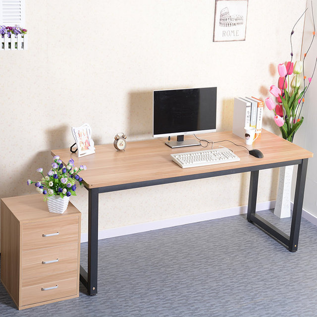 Simple rounded computer desk long table conference desktop