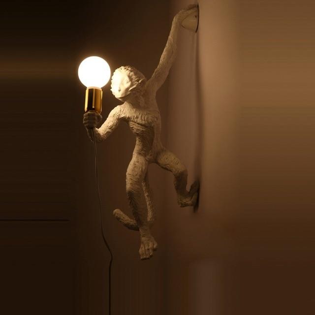 Led e27 Italie Résine Singe Designer LED Lampe Led Mur lampe Wall