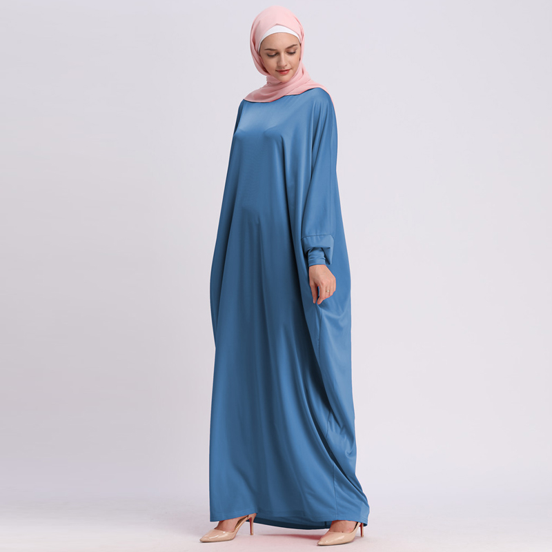 UAE 2019 Kaftan Abaya Dubai Arabic Islam Turkey Muslim Hijab Long Dress Abayas For Women Turkish Islamic Robe Clothing Hoofddoek