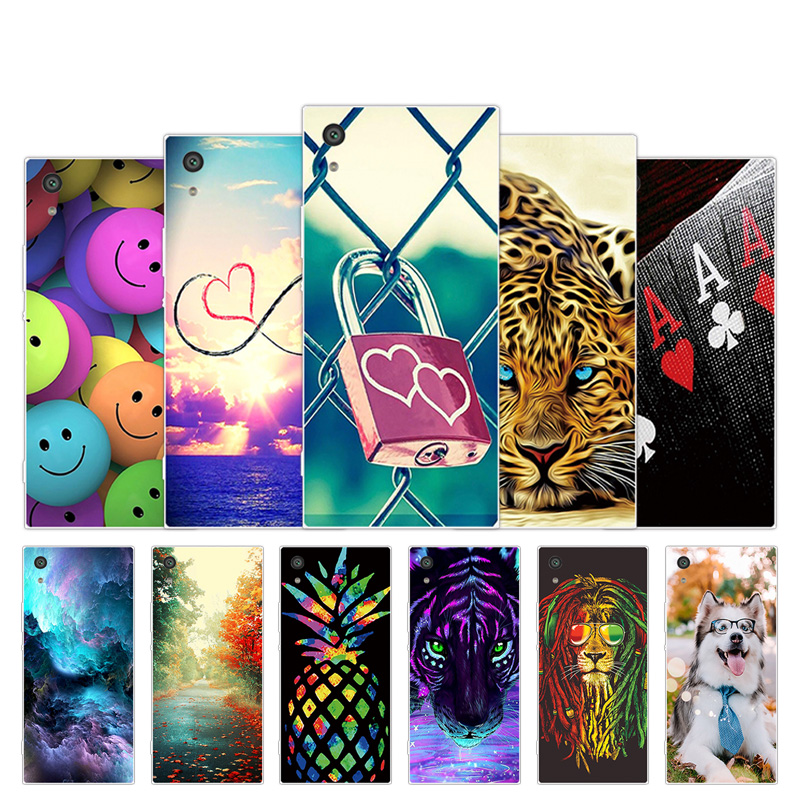 For <font><b>Sony</b></font> Xperia XA1 <font><b>G3112</b></font> G3116 Soft TPU Silicone Smile Design For <font><b>Sony</b></font> Xperia Z6 Cover For <font><b>Sony</b></font> XA1/Z6/XA 1 Phone Cases image