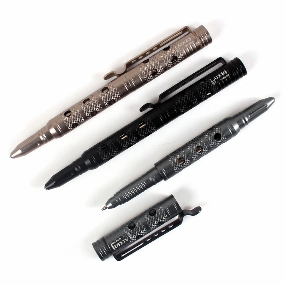 Portable Tactical Pen Self Defense Glass Breaker Aluminum Alloy EDC Tool For Outdoor Camp Emergency Kit Ball Point Pen