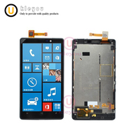 For Nokia Lumia 820 LCD Display Touch Screen Digitizer Assembly With Frame 800x480 For 4 3
