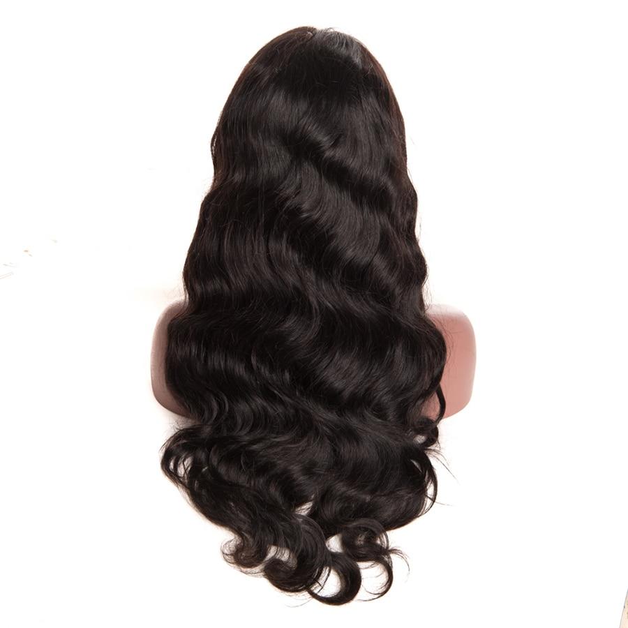 360 레이스 정면 가발 브라질 바디 웨이브 레이스 - 인간의 머리카락 (검은 색) - 사진 2