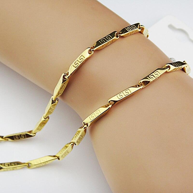 Горячая Распродажа шармы 316L нержавеющая сталь женское мужское ожерелье для костюма модные золотые серебряные ювелирные изделия A-816 - Окраска металла: O