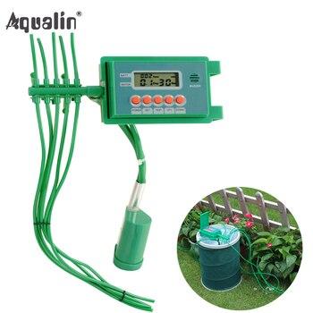 Automático Da Bomba de jardim Rega Kits de Irrigação Por Gotejamento Sistema de Aspersão com Água Inteligente Temporizador Controlador para Bonsai, Plantas # 22018A