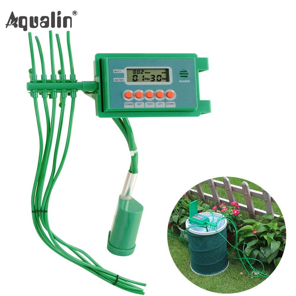 Jardin Automatique Pompe Irrigation Goutte À Goutte Arrosage Kits Système D'arrosage avec Smart Eau Minuterie Contrôleur pour Bonsaï, Plante # 22018A