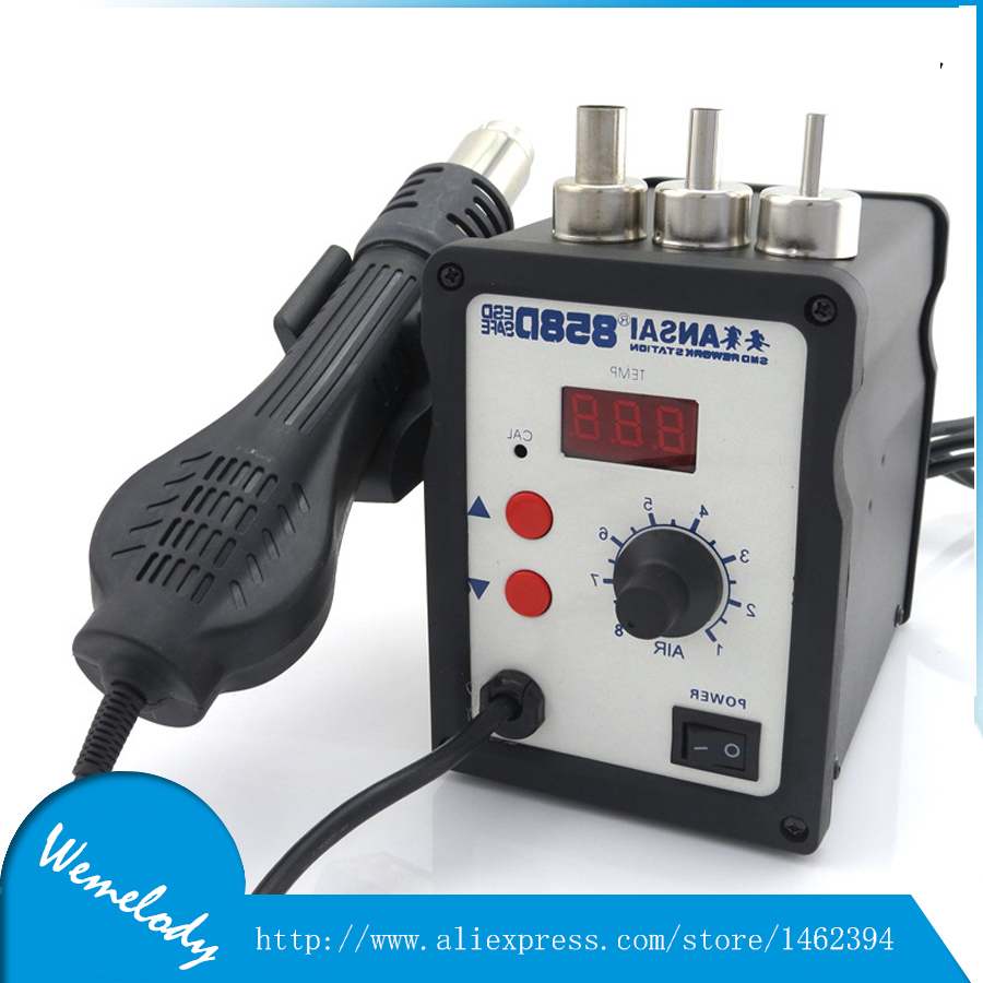 hot air welding gun welder with 7pcs of weld nozzles and 1pc of heat element with mica tube