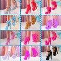 10 пар смешать различные типы раскрашенная мода Morden туфли на высоком каблуке сандалии аксессуары для барби Kurhn подарок на день рождения