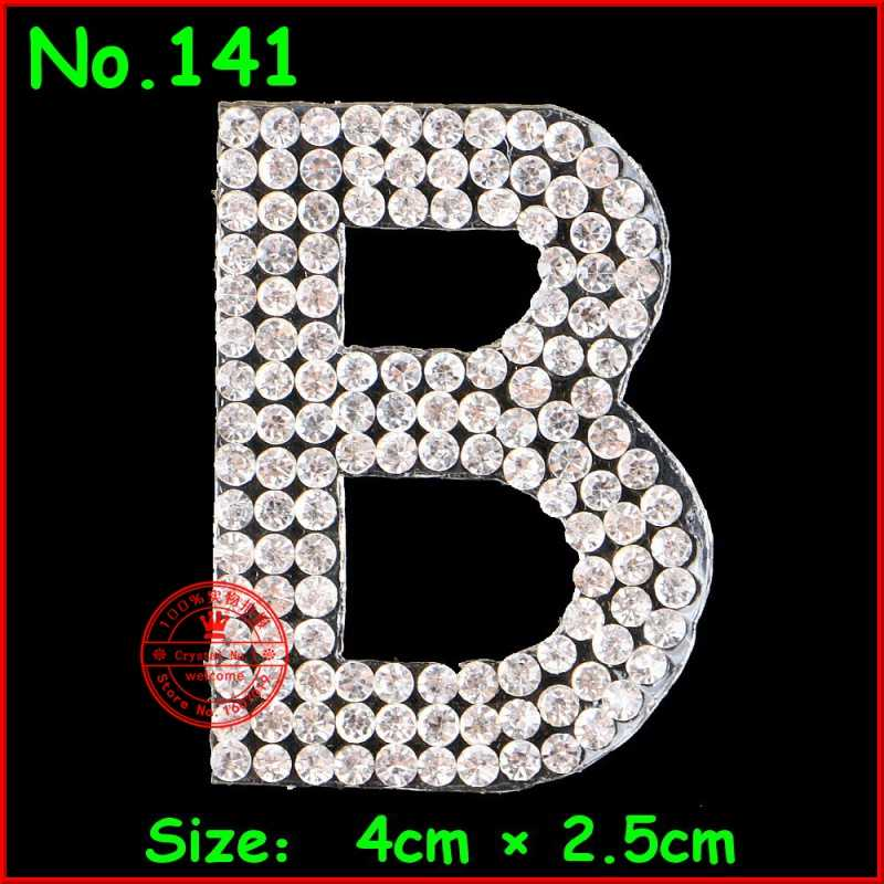 1 pcs Lot English Alphabet Patches Letter Crystal Motif hotfix Rhinestones  Patches For Children Women f1586ef76167