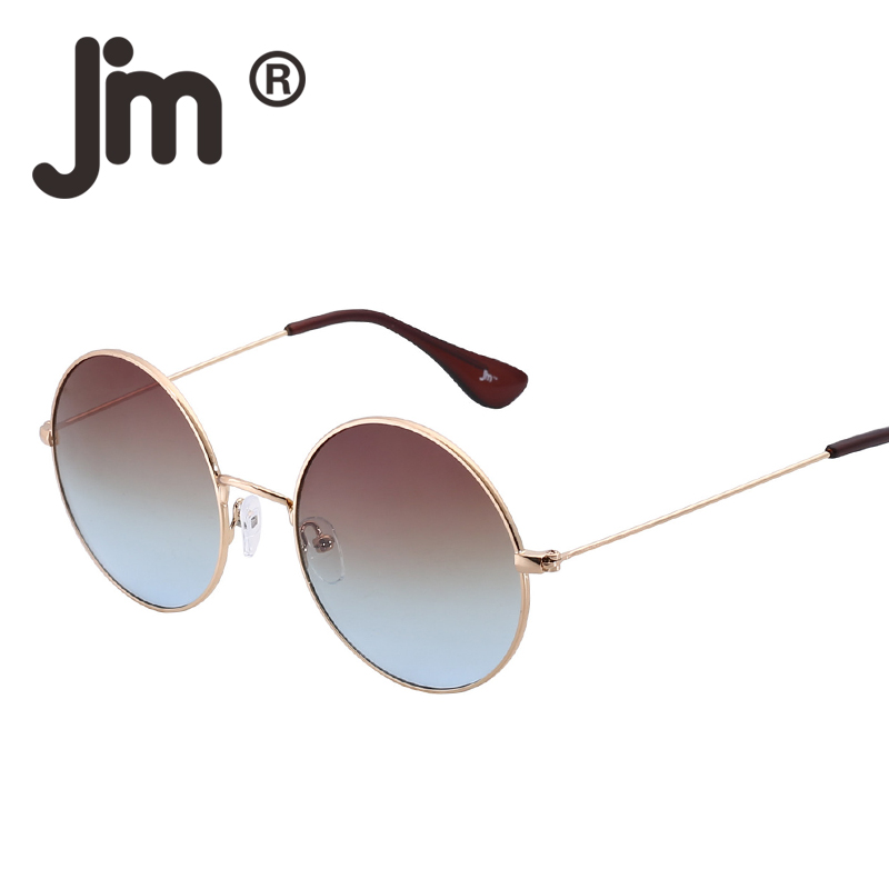 JM Free Fast Shipping Wholesale 50pcs/LOT Retro Vintage Round Metal Mirror Reflective Circle Lens Steampunk Sunglasses Women Men