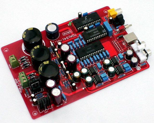 Волокна Коаксиальный Плата Декодера TDA1541 Нет USB Двойной AC15-0-15V Dual 12V-0-12V