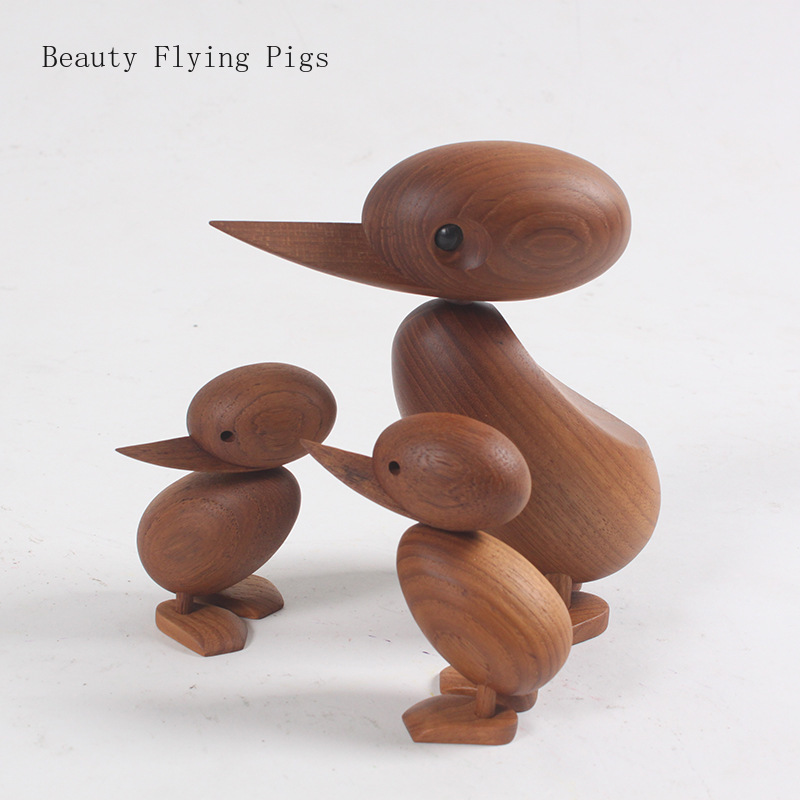 The Danish puppet woodcarving classic creative Home Furnishing ornaments small duck soft decoration housing study desktop decora(China)
