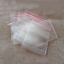 100pcs small ziplock bags clear plastic bags transparent pe zip lock bag for cloth/christmas/gifts/Jewelry Packaging Display bag(China)