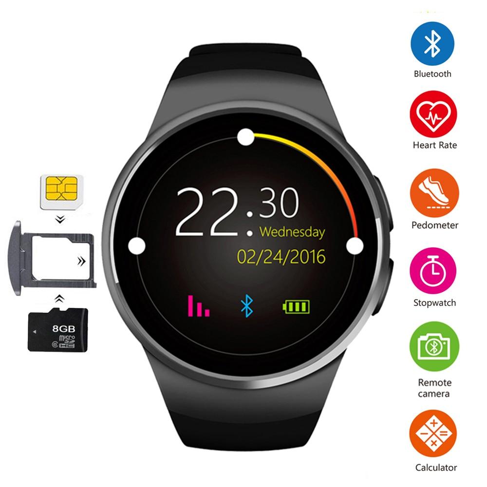 Smart Watch KW18 Bluetooth Call Watch Smart Passometer Heart Rate SIM TF Card Watch Phone Smartwatch