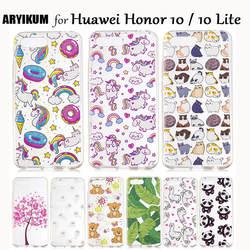 Для huawei Honor 10 дело чести 10 Lite Роскошный телефон Ударопрочный Мягкий ТПУ Силиконовая задняя крышка для Honor10 Coque Honor 10 облегченная Чехол