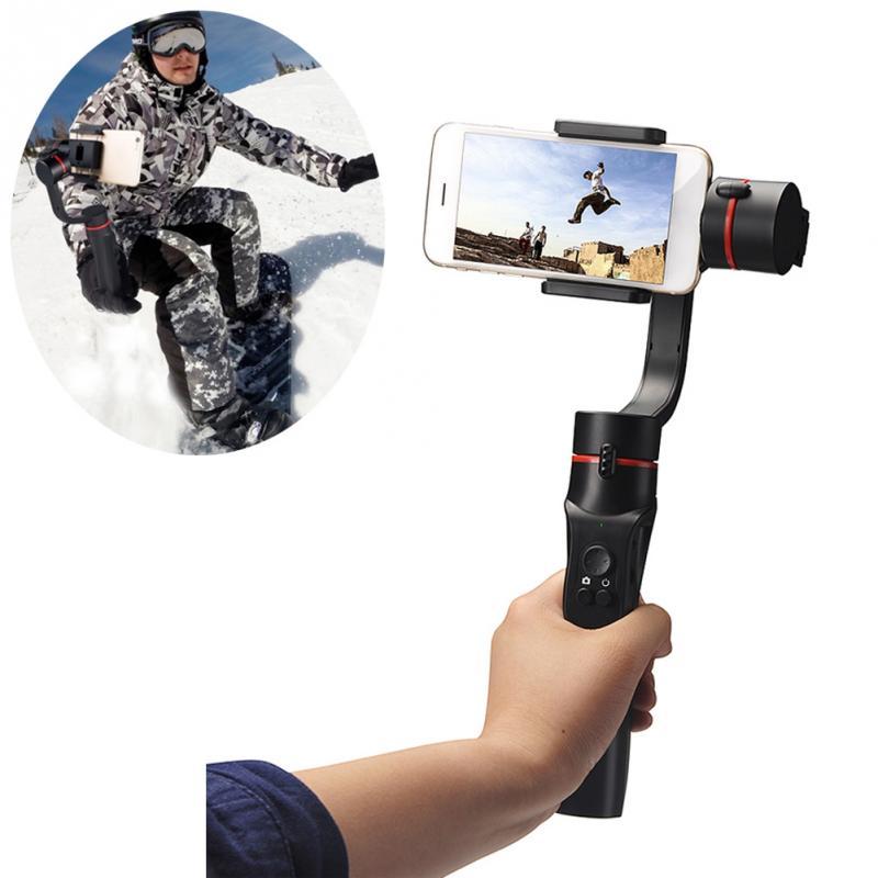 Téléphone intelligent Stabilisation Cardan Motorisé Rechargeable 3-axe Poignée Cardan 360-degré panoramique tournage #0827