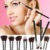 Acevivi profesional 10 unids suave cosmética herramienta pincel de maquillaje kit de cepillo con bolsa de cosméticos fundación 31