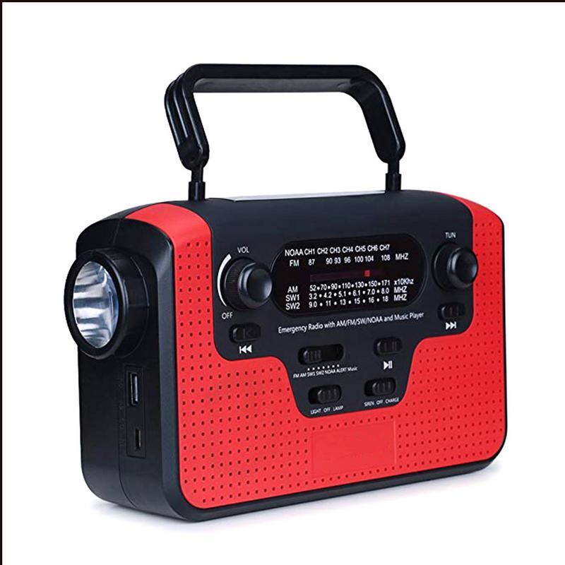 Hot Outdoor AM FM SW Solar Radio Solar Hand Crank Powerful LED Flashlight Electric Torch Dynamo