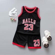 2pcs set boy summer sport clothes childs basketball uniform Kids boys