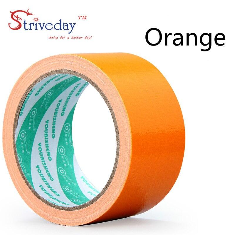 1 шт. 60 мм в ширину и 10 м цветная тканевая основа лента односторонняя сильная Водонепроницаемая без следа высокая вязкость ковер лента DIY - Цвет: Orange