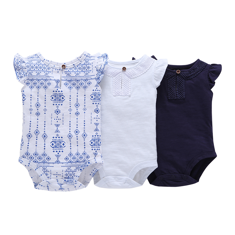 Baby   Romper   Girls Fashion Sleeveless Summer Top Quality One Piece Cotton Clothing Newborn Baby Girls Clothes Free Shipping