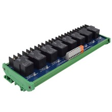 лучшая цена 8-way Omron single open 24V30A relay module, original product PLC control board
