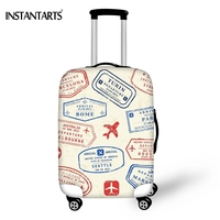 INSTANTARTS Funny Stamps Print On The Road Luggage Protect Covers Apply To 18 30 Inch Trolley