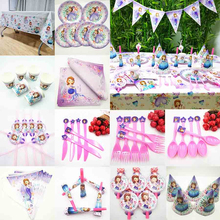 Sofia Princess Kids Birthday Party Supplies Baby Shower Favors For Girls Anniversary Wedding Decoration