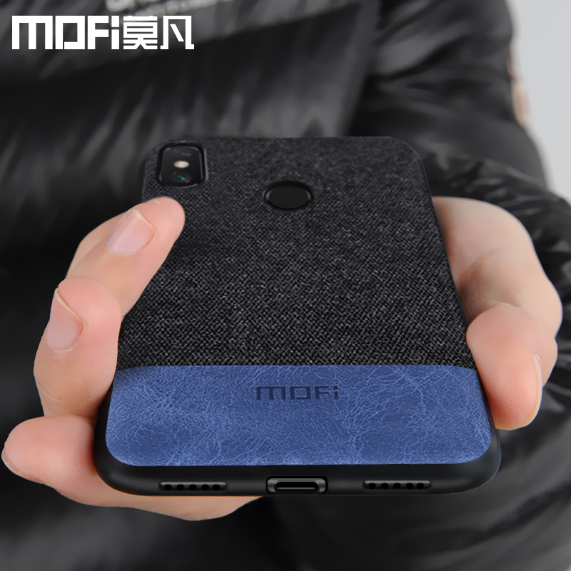 Xiaomi Redmi Hinweis 6 fall abdeckung note6 Globale Version zurück abdeckung silikon rand stoff fall coque MOFi Redmi hinweis 6 pro fall