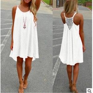 Women Beach Dress Fluorescence Female Summer Dress Chiffon V