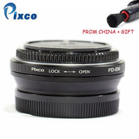 Pixco For FD EM Lens Adapter Focusing Infinity Focal Reducer Speed Booster with Optical Glass for Canon FD Lens to EOS M M50 M6
