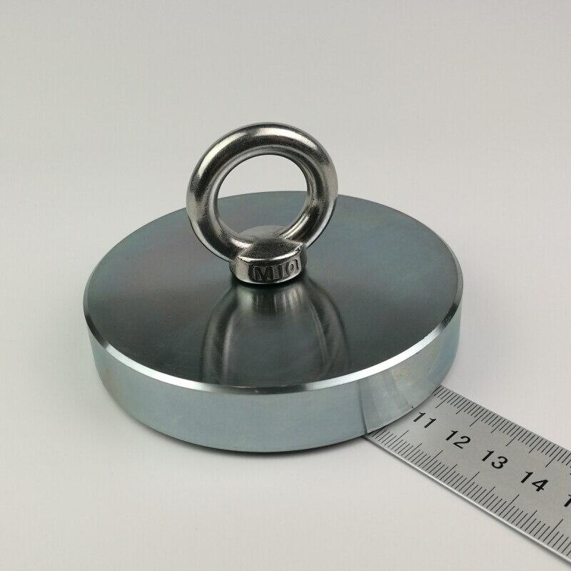 1 шт. 600 кг вертикальный pull-force Мощный Неодимовый Рыбалка Магнит с рым супер мощный получение магнит детектор металла