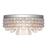 New Fashion Diamond Design Crystal Ceiling Lamp E12 Grid Net Bedroom Dining Lights Ceiling Lustre Drop