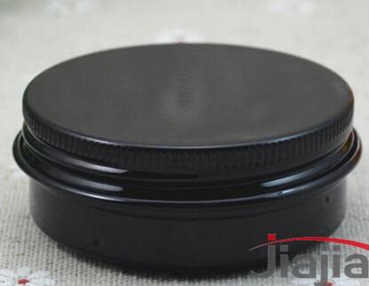 Lot of 100pcs 30ml Aluminum Jars Lip Balm Pots 30g Cosmetic Container black Tins wholesale