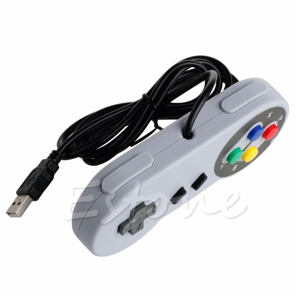 Wired USB SNES Controller Retro Gaming Joypad Joystick Gamepad For Nintendo UK #0222#