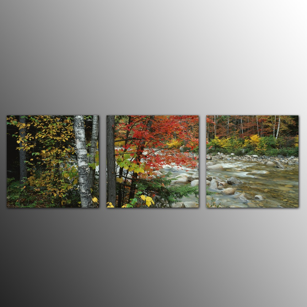 3pcs brook canvas prints gallery quality wall art for home and office decoration giclee prints modern