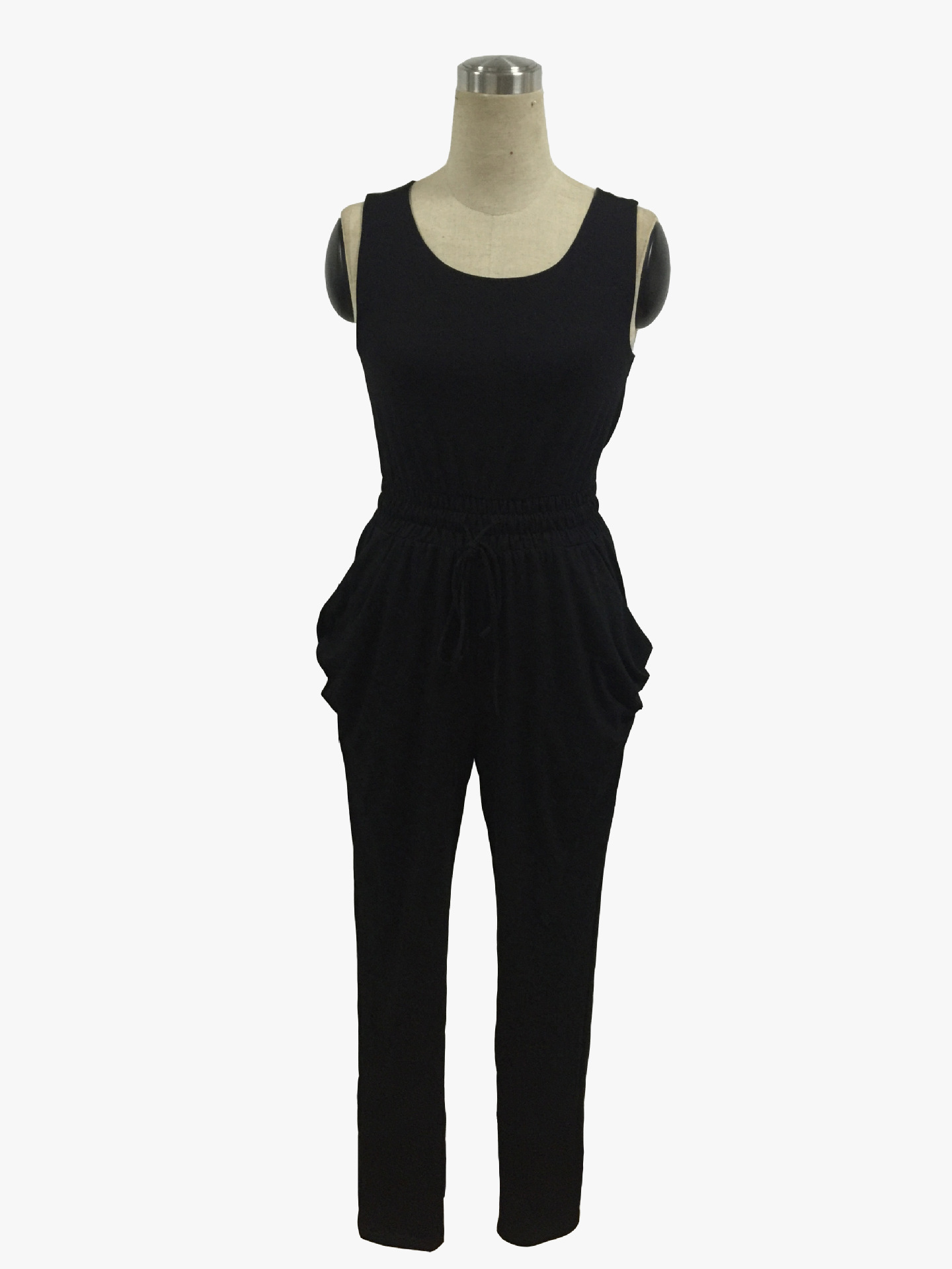 c28cbbec5ee7 2017 Summer Low Cut Rompers Womens Jumpsuit Multicolor Elastic Waist  Sleeveless Long Pants Playsuit PD-in Jumpsuits from Women s Clothing    Accessories on ...