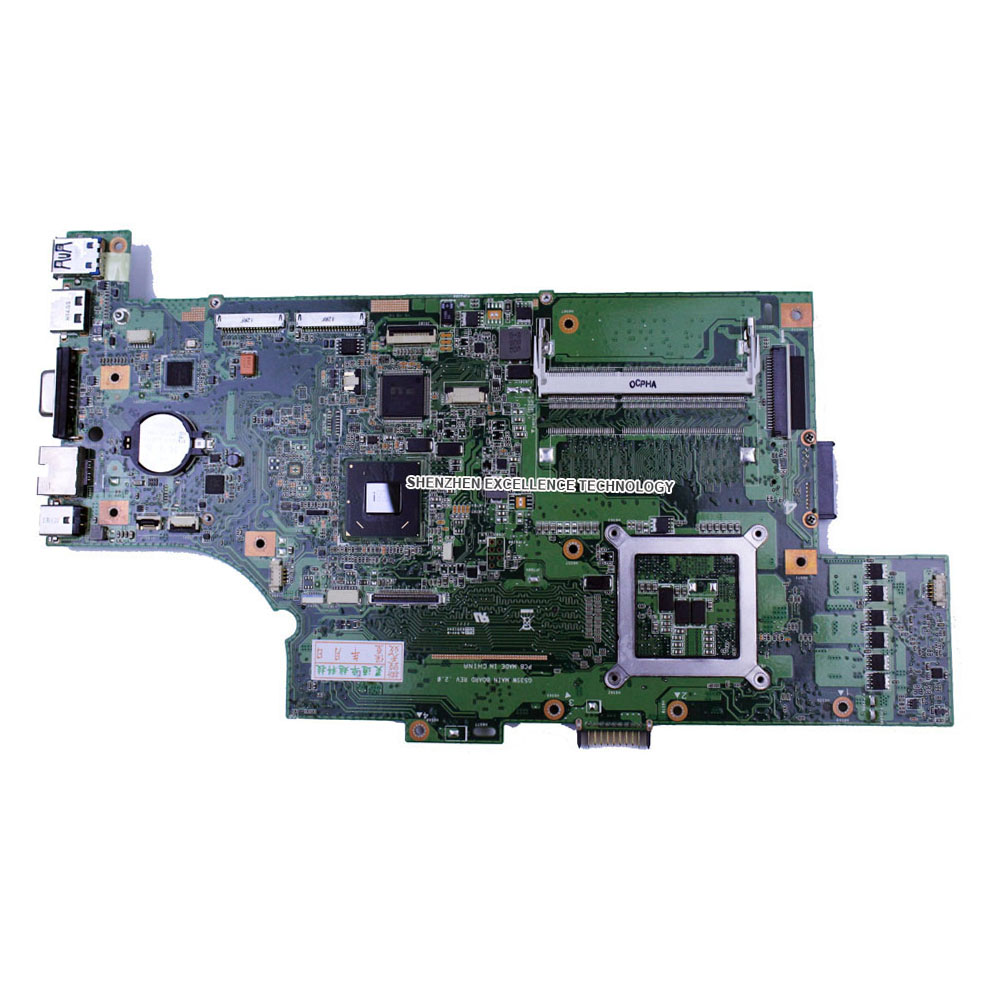 In Stock G53SW font b motherboard b font Original For Asus G53SW laptop 2 RAM SLOT