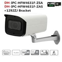 ahua IPC HFW4631F ZSA IPC HFW4631F ZAS 6MP IP Camera 5X Zoom Bullet 60M IR Micro SD Card Slot Audio IP67 IK10 with DH logo