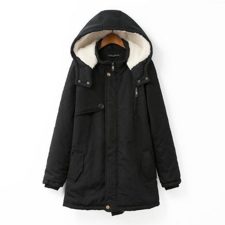Neue Winter Warme Jacke Frauen Hohe Qualität Halten Warme Fleece Schlank Mit Kapuze Verdicken Baumwolle Mantel Plus Größe Jacke