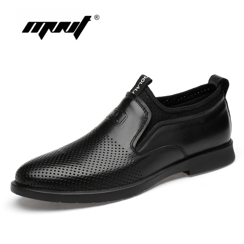 Men's Shoes Natural Cow Leather Mesh Summer Dress Shoes Business Italian Fashion Men Oxfords High Quality Formal Shoes Men Suitable For Men And Women Of All Ages In All Seasons