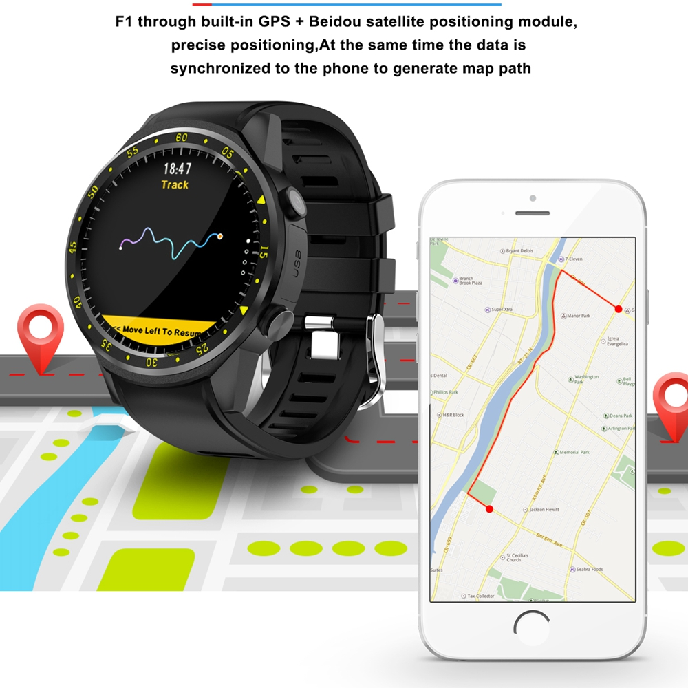Authentic F1 Sport Smart Watch with GPS Camera Support Stopwatch Bluetooth Smartwatch SIM Card Wristwatch for
